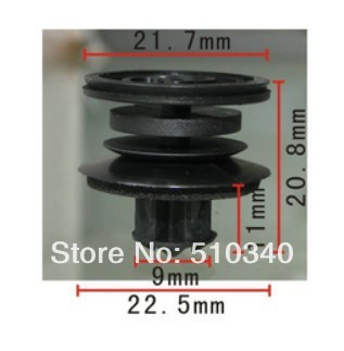 Se encaixa em 10mm buraco clipe porta do carro guarnição retentor para Volkswagen e caso para Audi