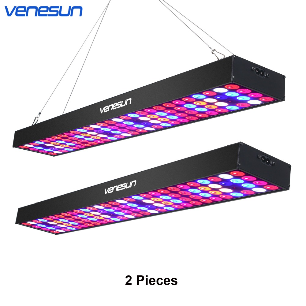 LED Grow Light Full Spectrum Venesun 100W Panel with IR UV Lamps Aluminum Made for Indoor