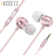 !ACCEZZ 3.5mm In-ear Earphone Super Bass Earphones With Mic Earbuds Sport Gaming Headset For iPhone Samsung Xiaomi Huawei MP3 4 цена 2017