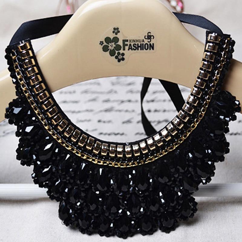 Déclaration de mode collier ras du cou chaîne Neoglory cristaux Maxi Boho Chokers clavicule Meaeguet grand pendentif collier bijoux