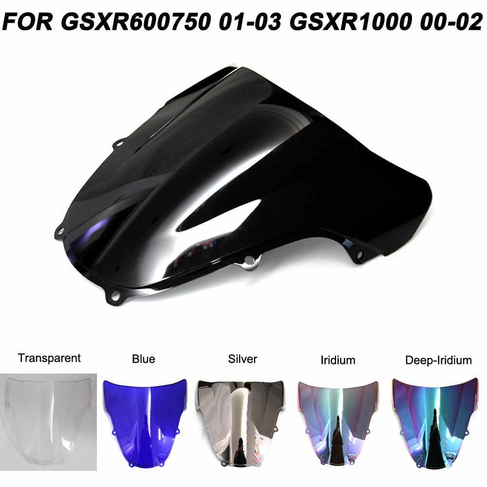 Untuk 01-03 Suzuki GSXR600 GSXR750 K1 GSXR1000 K2 Motor Kaca Depan Kaca Depan Gsxr 600 750 1000 Aksesoris 2001 2002 2003