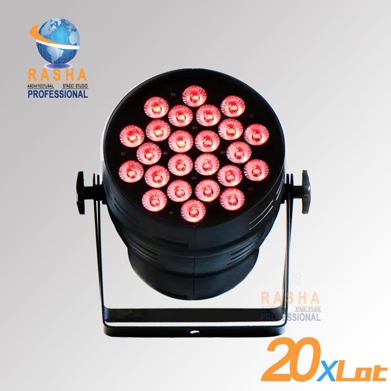 20X LOT Hex Lion Rasha 24pcs 18W 6in1 RGBAW UV Alumnium LED Par Light UV LED