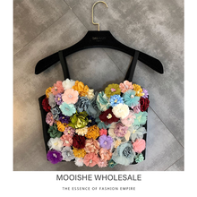 3D Flower Decoration Women Caimi Color Cluster Woman Stereo Vest 2019 Spring New Camis