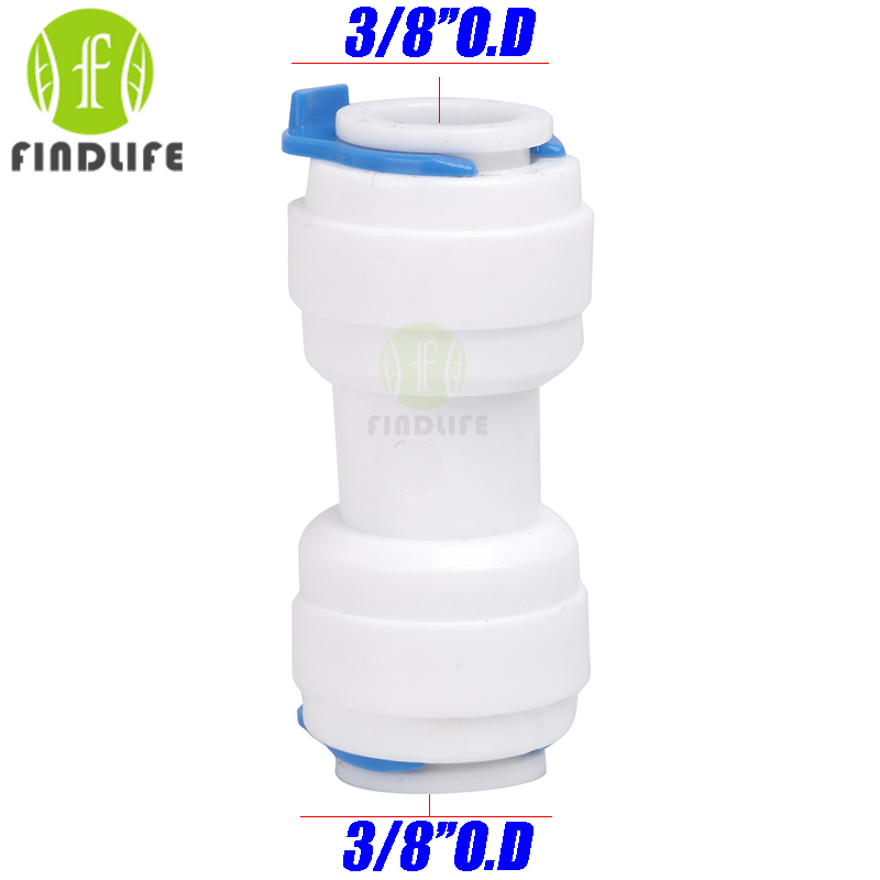 Water Filter Parts 5 pcs 3/8 *  3/8 Equal Straight Tube OD Quick Connection  For Water purifier  Reverse Osmosis machine 1566 2 pcs water filter parts 1 4 tank ball valve for tube quick connect switch water purifier ro reverse osmosis system