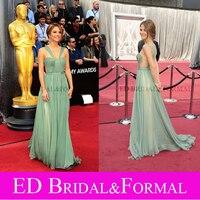 Maria Menounos Greem Dress Halter Evening Prom 2012 Oscar Celebrity Red Carpet