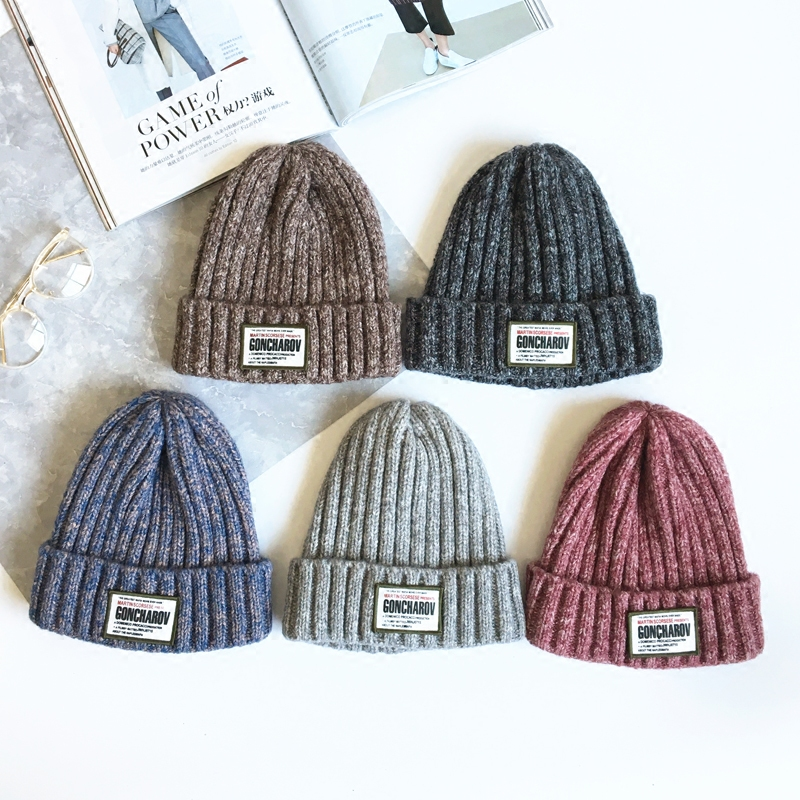 Winter Skullies Beanies Hat Women 2017 New Hot Fashion Casual Warm Thick Mixed Color Patchwork Knitting Hats skullies