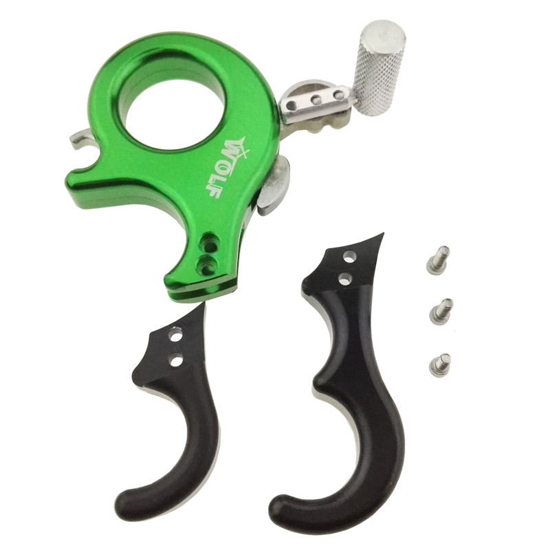 Details about  /Archery Release Aids 3 or 4 Finger Grip Compound Bow Thumb Caliper Trigger