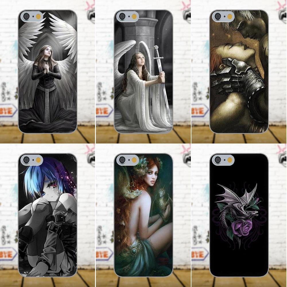 Anne Stokes Design TPU Cell Cover Case For Apple iPhone X 4 4S 5 5C 5S SE 6 6S 7 8 Plus For LG G3 G4 G5 G6 K4 K7 K8 K10 V10 V20 ...