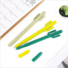 3 Pcs / lot Creative Cactus shape gel pen Kawaii students Writing Neutral pens Stationery Office school supplies