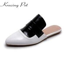 Мода для подиума с острым носком брендовая Летняя обувь классические Slingback повседневные женские тапочки суперзвезда смешанные цвета женские сандалии L58