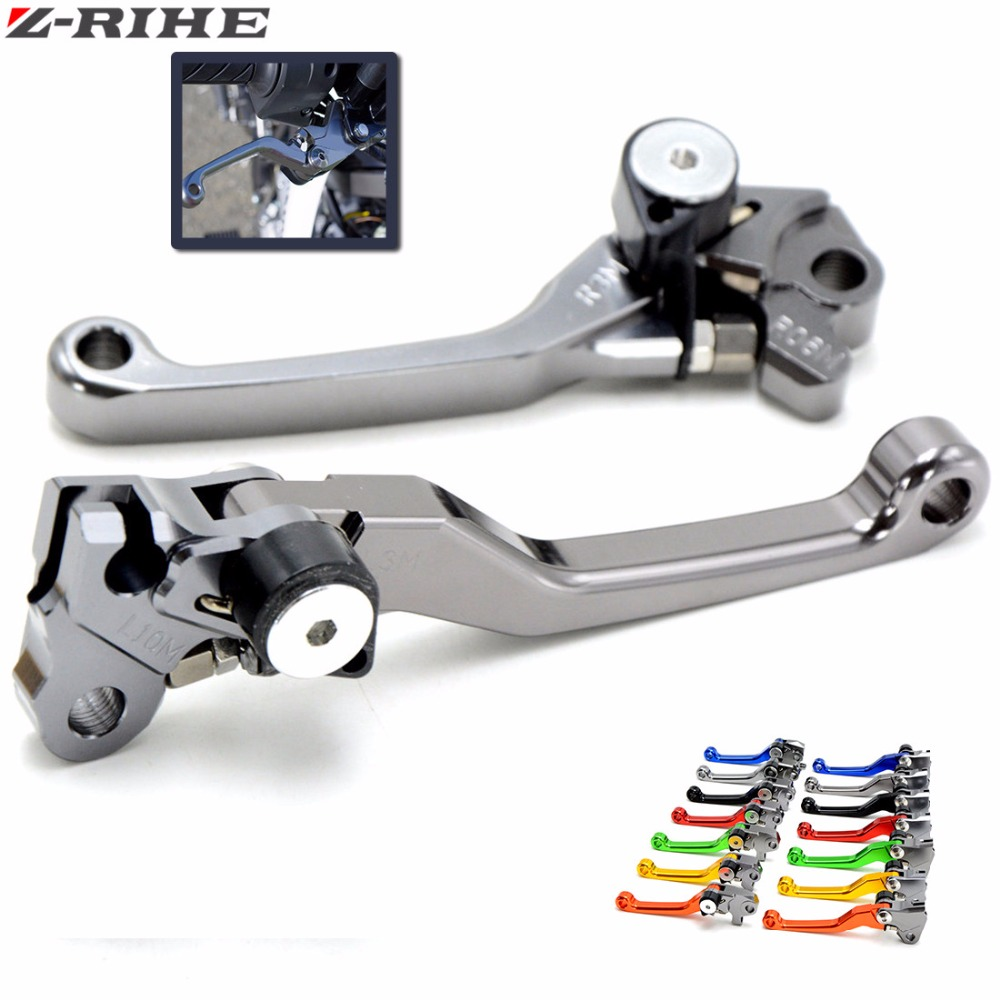 Motocross dirt bike CNC Pivot Brake Clutch Levers For YAMAHA YZ80 85 125 250 250F 425F 450F 250X 250FX WR 450 F WR 250R 250F for yamaha yz80 yz85 kawasaki kdx200 kdx220 suzuki rm85 rm125 rm250 drz125l cnc dirttbike pivot brake clutch levers blue