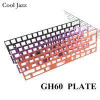 Механическая клавиатура с ЧПУ анодированный алюминий рисунок совпадающий позиционирование наколенник с пластиной ISO ANSI для GH60 pcb 60% клавиат...