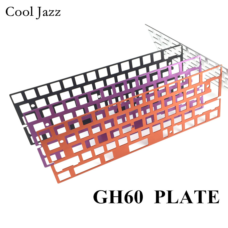 CNC Mechanical Keyboard Anode Aluminum Drawing Concurrence Positioning Plate Support ISO ANSI For GH60 Pcb 60% Keyboard DIY