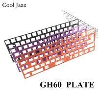 Teclado Mecânico CNC ânodo de alumínio desenho placa de posicionamento suporte ISO ANSI para GH60 concordância pcb 60% teclado DIY