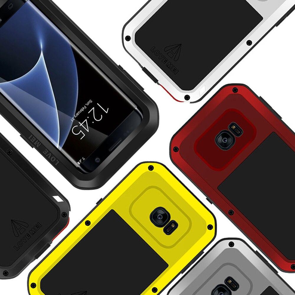 Blindé Hybride Cas de Couverture Étanche Cas Fundas Logement Eau/Dirt/Choc/Pluie Preuve Pour Samsung GalaxyS7 S7 bord Cas