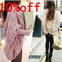 Free Shipping New Sale Brand Long Sleeve Thick Wool Winter Cardigan Knitted Sweaters 2013 Women Fashion