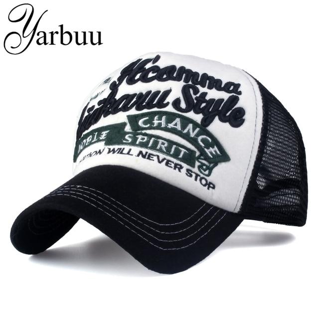 YARBUU  Marca bonés De Beisebol com net carta Snapback Caps para homens  mulheres moda cb3b1bb4dd4