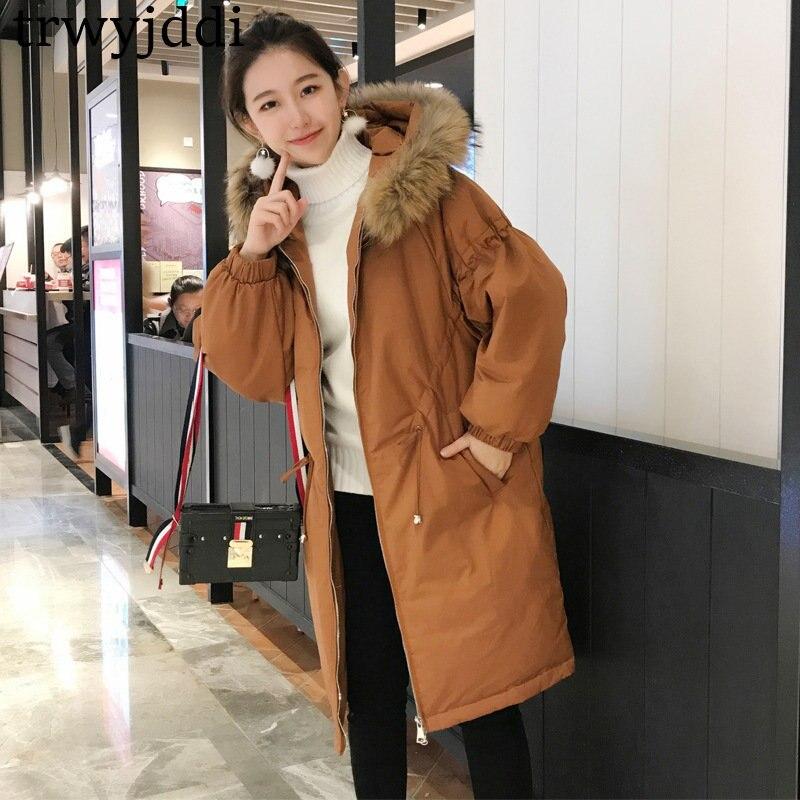 77c3363ec83c Bas De D hiver Jaqueta Femmes Vers Manteau 2018 caramel Chaud Feminina Col  Fourrure Casual Vestes New Base Le Veste Black Coton ...