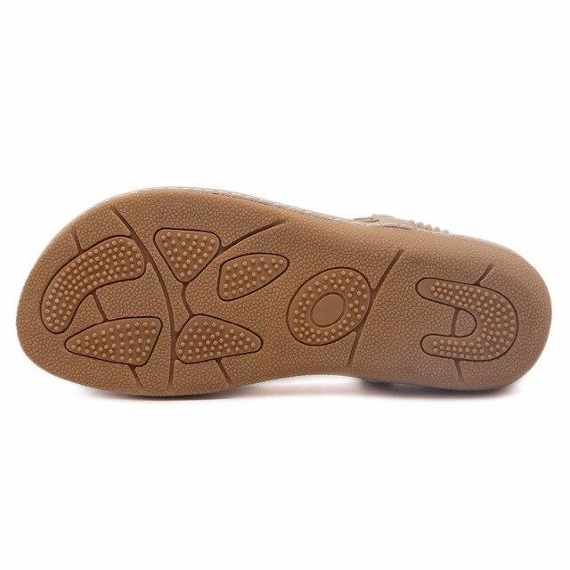 SIKETU new women Bohemia Flat sandals shoes woman String Bead flip flop Metal Decoration beach sandals casual shoes size 35-41