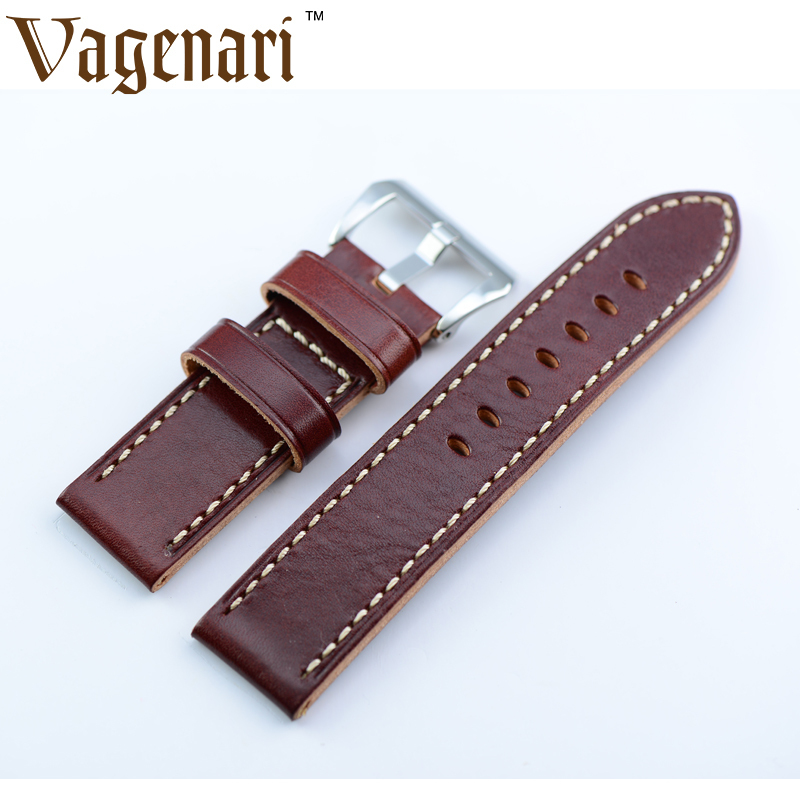 034 Watches Top Brand Men Wrist Band 24mm Italy Calfskin Genuine Leather Watch Strap For PAM