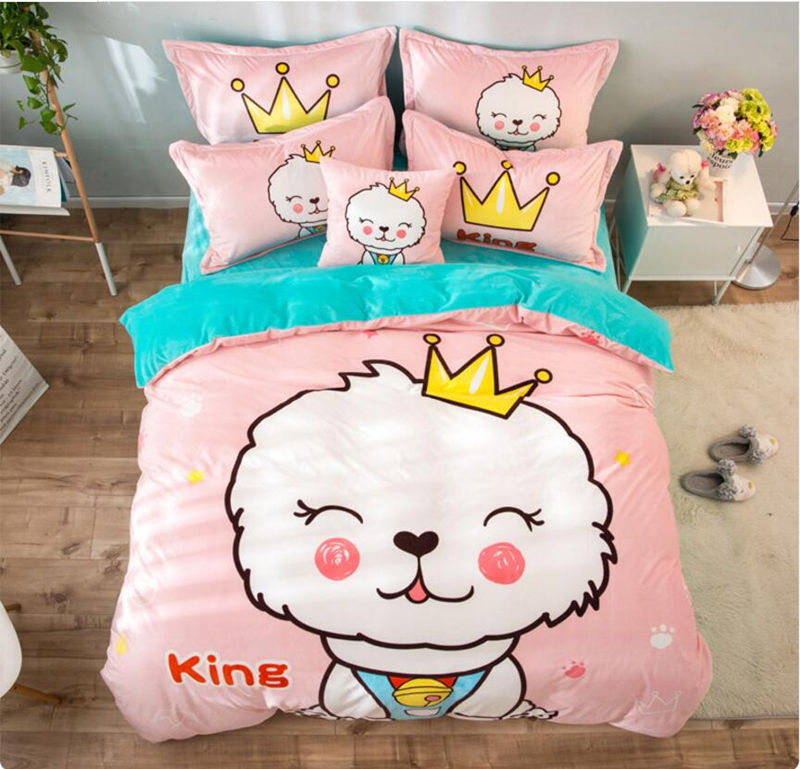 Wonderful 2017 Fleece Fabric Cartoon Luxury Bedding Set Dog Bed Set King Queen Twin  Bed Linens Duvet Cover Bed Sheet In Bedding Sets From Home U0026 Garden On ...