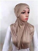LJ6 модальный Двухсекционный мусульманский хиджаб шарф модный хиджаб оголовье шарф - Цвет: LJ60006