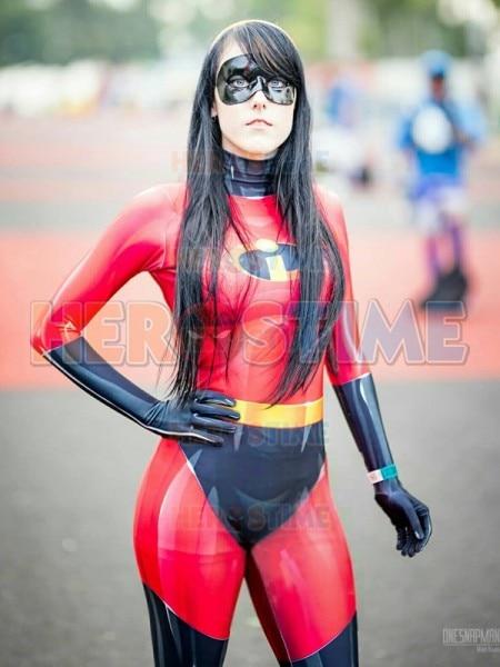 The Incredibles Costume Spandex Female Version Superhero Zentai  Suit Custom Made Girls Halloween Cosplay Costume
