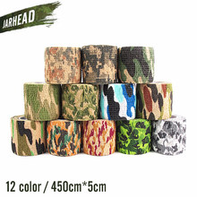 Army Camo Outdoor Hunting Self Adhesive Stealth Camouflage Tape Military Airsoft Shooting Camo Stretch Bandage Tape,5 pieces/lot(China)