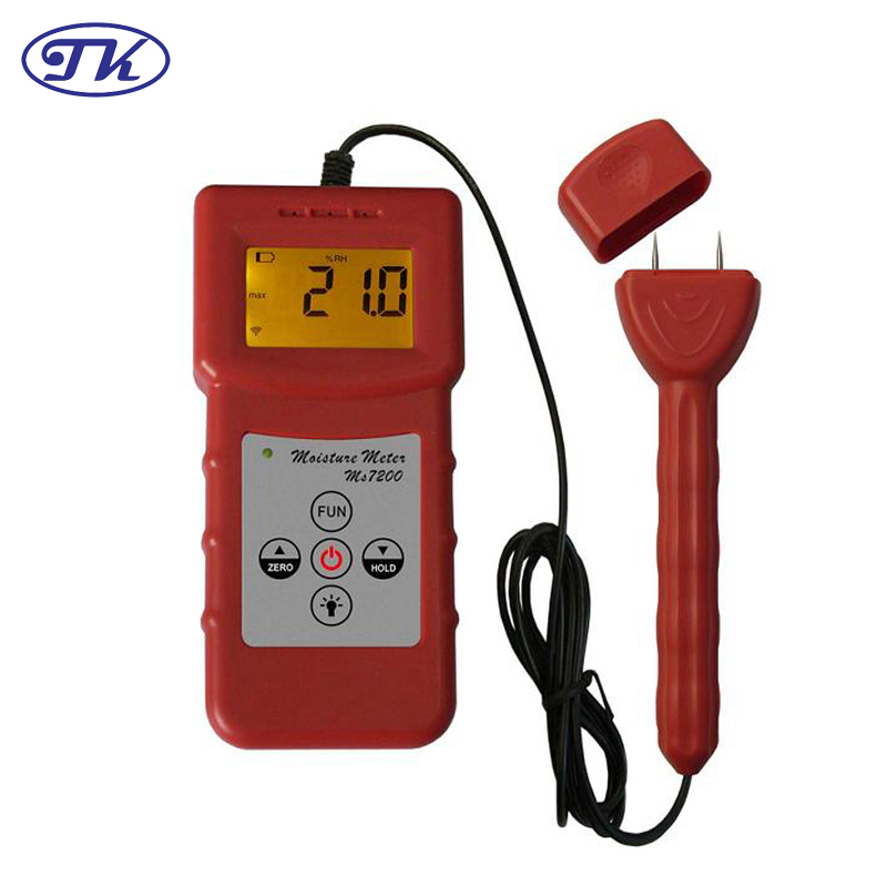Digital Wood Moisture Meter Timber/Paper/Bamboo/Concrete/Floor 0-80% MS7200+