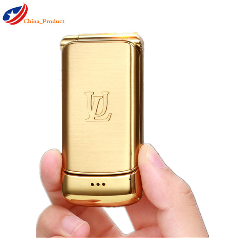 "Ulcool V9 Mini Flip CellPhone 1.54"" Bluetooth Anti lost Super 750mAh Dual SIM GSM MP3 Luxurious Smalllest Student Mobile Phone