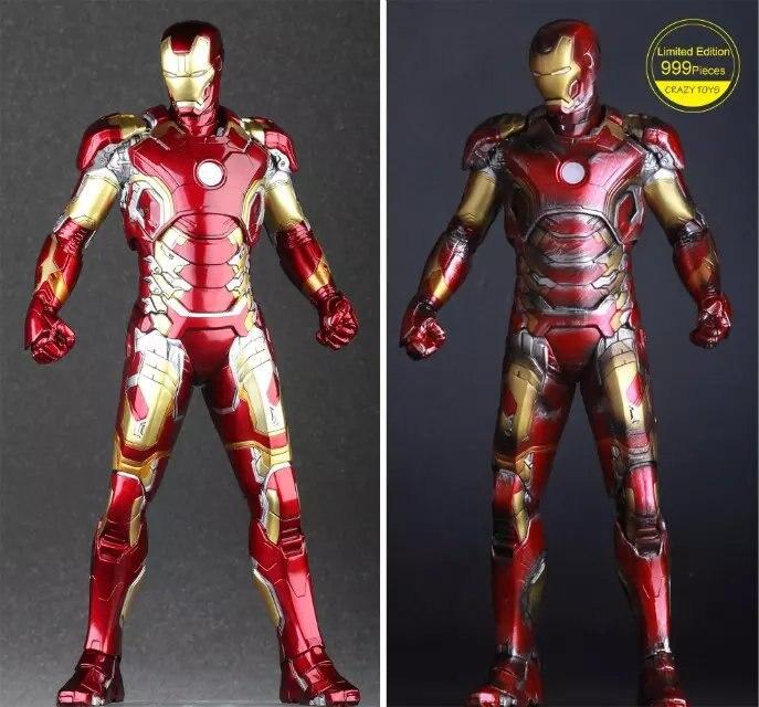 Jouets fous Avengers Age d'ultron fer homme marque XLIII MK 43 PVC figurine à collectionner modèle jouet 12