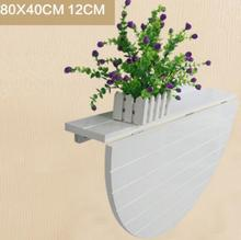 80*40CM Modern Wall Mount Dining Table Solid Wood Folding Table Wall Hanging Garden Table