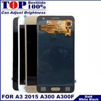 A300 lcd substituição para samsung galaxy a3 2015 a300 a300f a300h display lcd tela de toque digitador assembléia controle brilho|LCDs de celular| |  -