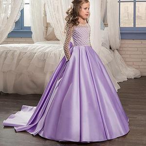 Image 5 - Cô gái Váy Cưới Cô Gái Bên Ăn Mặc Màu Hồng Trắng Net Tổng Thể Bóng Áo Choàng Cô Gái Công Chúa Ăn Mặc Quần Áo cho trẻ em 2  13 năm