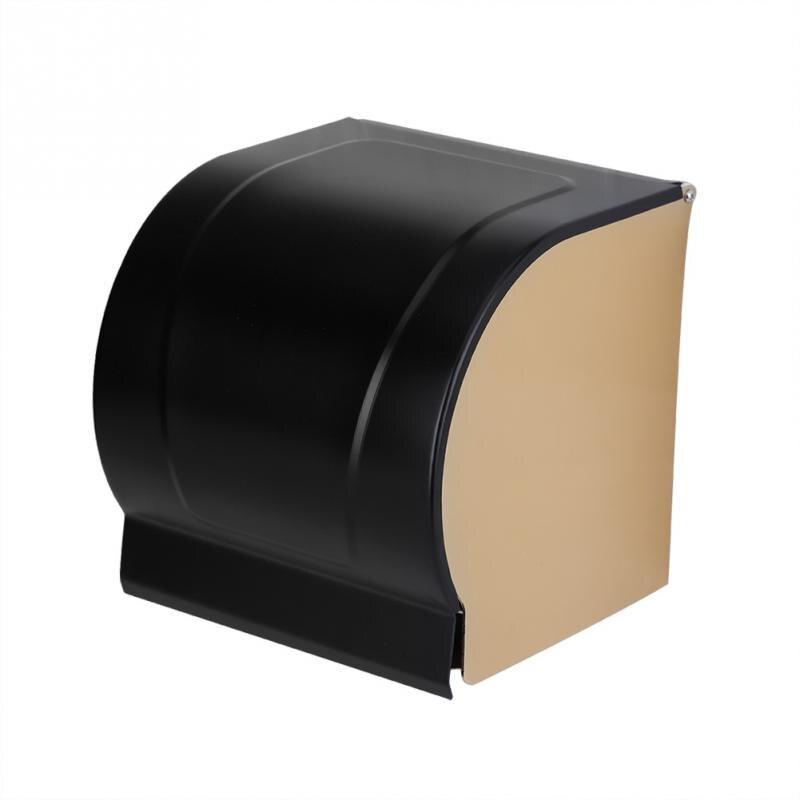 Comprar Aluminio espacio papel higiénico rollo titular montado en la pared baño caja de pañuelos accesorio a prueba de polvo caso sostenedor de papel higiénico de Soportes para papel fiable proveedores en Fanjin Store
