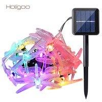 Holigoo 30 LED Libellula Solare del LED Lampada Esterna Luce della Stringa Per Festival Festa Di Natale Ghirlanda Decorazione Stringa di Illuminazione