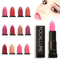 Focallure Matte Lipstick Makeup Cosmetics Batom Mate Lip Stick Moisturizing Lip Stick Long Lasting Waterproof A5