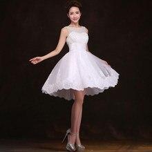 New 2016 white short wedding dresses the bride sexy lace wedding dress bridal gown plus size ivory vestido de noiva curto