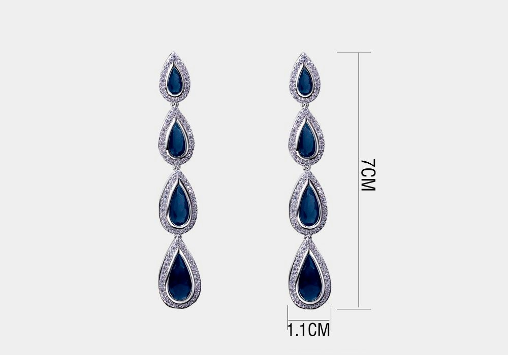 Latest design Wedding present cubic zirconia Bridal earrings