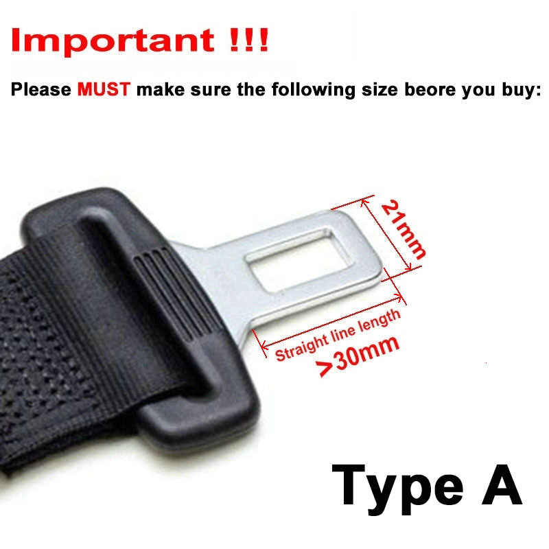 Belt Extension Safety Certified Extender Automotive Metal Belt Extender for Cars