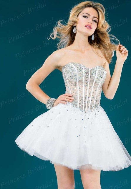 Free Shipping Ball Gown Puffy Sweetheart Lace Up Back Short Tulle ...
