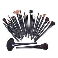Big Discount 32 Pcs Professional Makeup Brush Sets Cosmetic Brushes Kit Black Leather Case