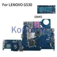 Laptop motherboard Para LENOVO G530 KoCoQin GM45 JIWA3 LA-4212P Mainboard testado