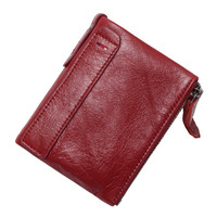 2017 Hot New Vintage Small Women Wallets Female Genuine Leather Womens Wallet Zipper Design With Coin