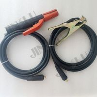 welding machine accessories 300 Amp electrode holder 3M cable+200 Amp earth clamp 3M cable,both with DKJ10 25 connector