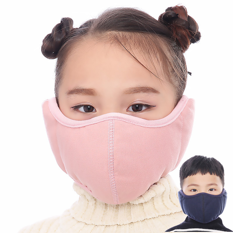 Children Anti Pollution Mask Dust Respirator Washable Reusable Masks Cotton Unisex Kid Mouth Muffle Keep Warm Mask