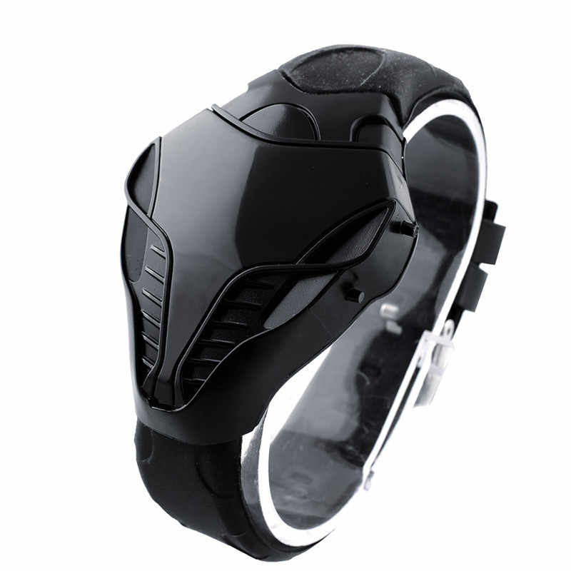 Fashion Leisure Olahraga LED Watch Pria Digital Strap Watch Silikon Cobra Olahraga Elektronik