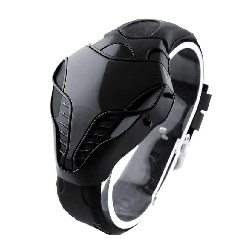 Fashion Leisure Sports LED Watch Men's Digital Watch Silicone Watch Strap Cobra Sports Electronic Watch