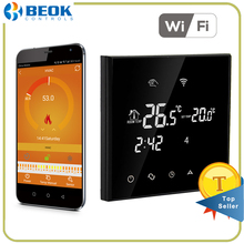 Beok TGT70WIFI-EP Smart Wifi Thermostat Energy Saving 7 Day Programmable Touchscreen Temperature Controller For Electric Heating