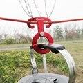 5 UNIDS Aluminio Cuerda Hanger Multifunción Herramienta de Campaña Al Aire Libre Kit de Viaje de Supervivencia Paracord Cuerda Hebilla Hebilla